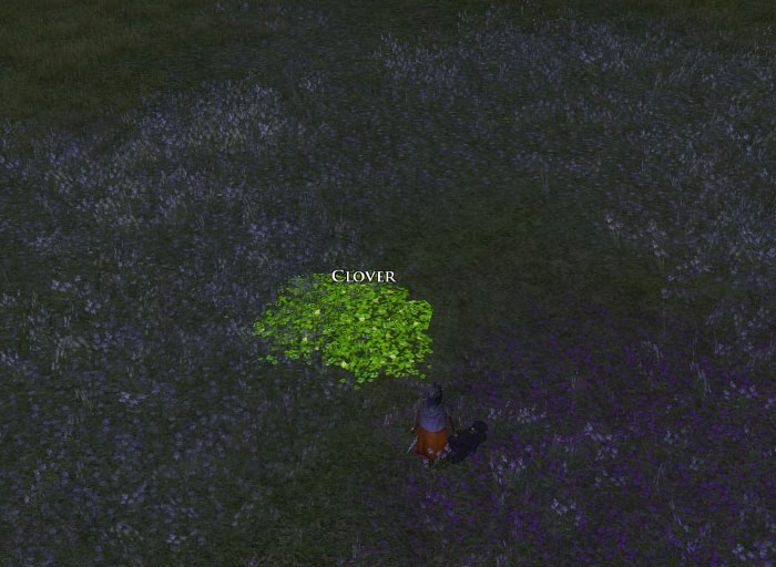 Screenshot of LotRO Spring Festival clover
