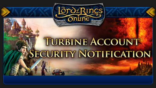 lotro security notification