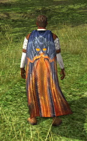 Ceremonial Cloak Of Shadow And Flame